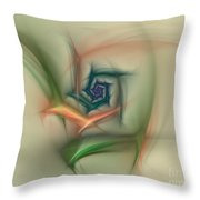 Rainbow Basic Flower Throw Pillow