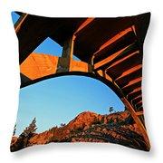 Rainbow Bridge Sunrise Throw Pillow