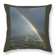 Rainbow Bright Throw Pillow