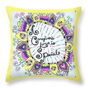 Rainbow Care Throw Pillow