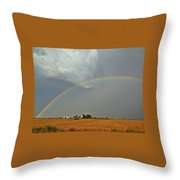 Rainbow Catching Throw Pillow