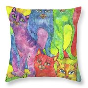 Rainbow Cats 2017 07 01 Throw Pillow