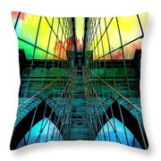Rainbow Ceiling  Throw Pillow