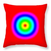 Rainbow Circles Throw Pillow
