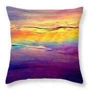 Rainbow Clouds Full Spectrum Throw Pillow