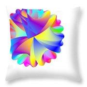 Rainbow Cluster Throw Pillow