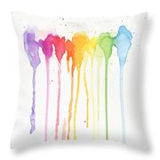 Rainbow Color Throw Pillow