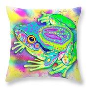 Rainbow Color Peace Frog Digital Art By Nick Gustafson