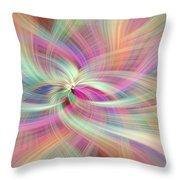 Rainbow Colored Abstract. Concept Divine Virtues Throw Pillow