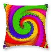Rainbow Coloured Cock Swirl H A Throw Pillow