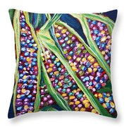 Rainbow Corn Throw Pillow