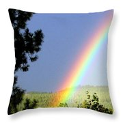 Rainbow Covenant Throw Pillow