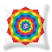 Rainbow - Crown Chakra  Throw Pillow