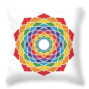 Rainbow - Crown Chakra - Pointillism Throw Pillow
