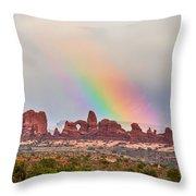 Rainbow Down Throw Pillow
