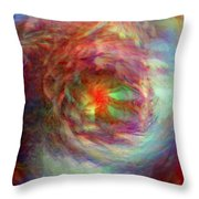 Rainbow Dreams Throw Pillow by Linda Sannuti