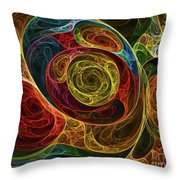 Rainbow Egg Formation Abstract Throw Pillow