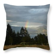 Rainbow Fade Throw Pillow