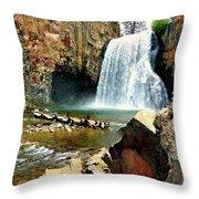 Rainbow Falls 2 Throw Pillow