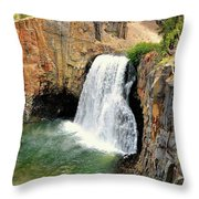 Rainbow Falls 3 Throw Pillow