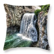 Rainbow Falls 5 Throw Pillow