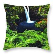 Rainbow Falls #83 Throw Pillow