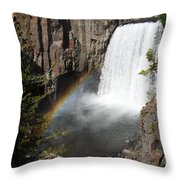 Rainbow Falls  Throw Pillow