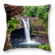 Rainbow Falls Throw Pillow