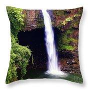 Rainbow Falls Iv Throw Pillow