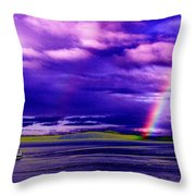 Rainbow Ferry Throw Pillow