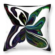 Rainbow Firefly Abstract Throw Pillow