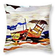 Rainbow Fleet Throw Pillow