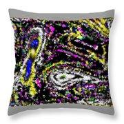 Rainbow Flurry Art Throw Pillow