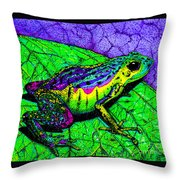 Rainbow Frog 2 Throw Pillow