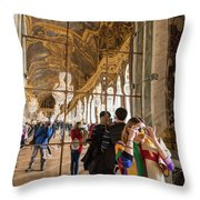 Rainbow Girl In The Hall Of Mirrors Throw Pillow