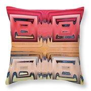 Rainbow Glass Throw Pillow