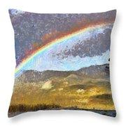 Rainbow - Id 16217-152046-6654 Throw Pillow