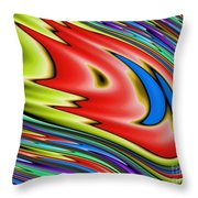 Rainbow In Abstract 04 Throw Pillow