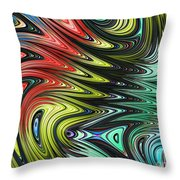 Rainbow In Abstract 05 Throw Pillow