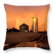 Rainbow In Potter Throw Pillow