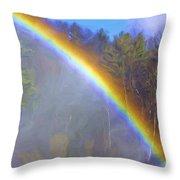 Rainbow In The Mist Throw Pillow