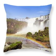 Rainbow In The Water Throw Pillow