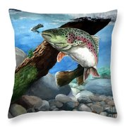 Rainbow Throw Pillow by Kathleen Kelly Thompson