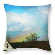 Rainbow Landscape Throw Pillow