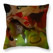 Rainbow Leaves 1 Throw Pillow
