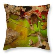 Rainbow Leaves 3 Throw Pillow
