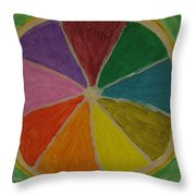 Rainbow Lemon Throw Pillow
