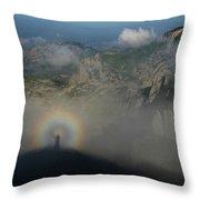 Rainbow-man Throw Pillow