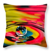 Rainbow Marble Water Drop Throw Pillow