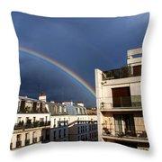 Rainbow Throw Pillow by Milan Mirkovic